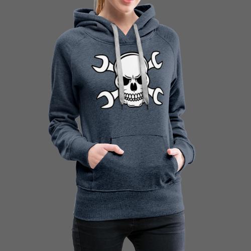 MEKKER SKULL - Dame Premium hættetrøje