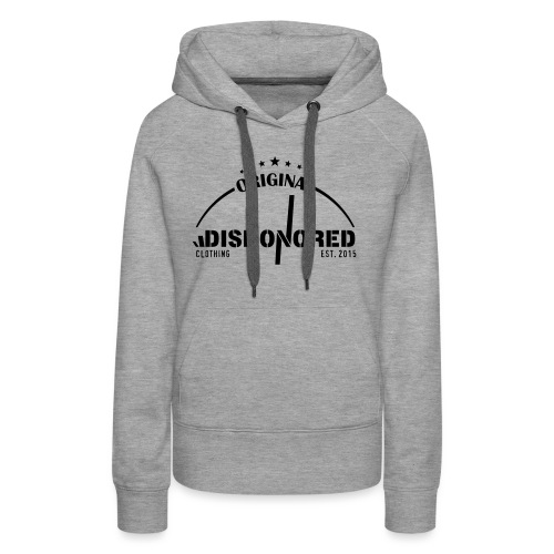 DISHONORED BROTHERS // BASIC SHIRT, BLACK AND RED - Frauen Premium Hoodie