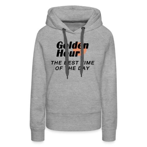 Golden Hour logo & slogan - Women's Premium Hoodie