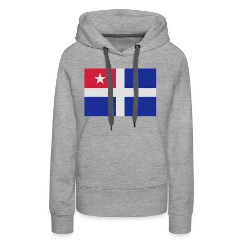Kreta-Flagge Geschenk Reise - Frauen Premium Hoodie