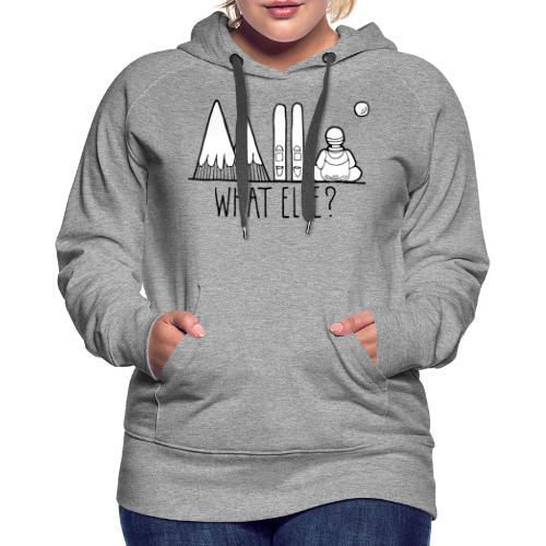 ski et montagnes what else - Sweat-shirt à capuche Premium pour femmes