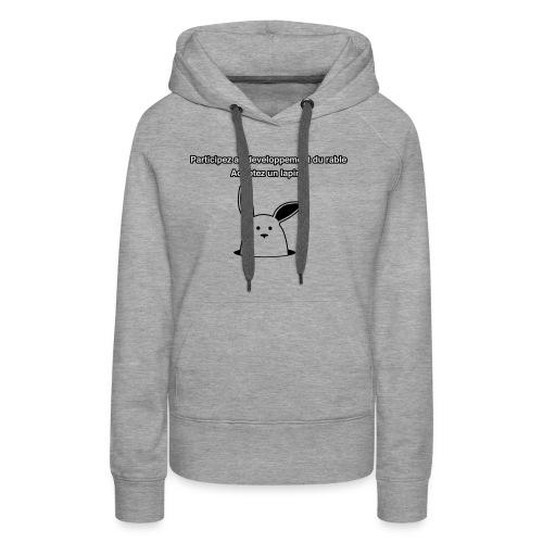 adoptez un lapin ! - Sweat-shirt à capuche Premium pour femmes