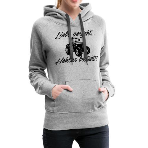 liebe vergeh - Frauen Premium Hoodie