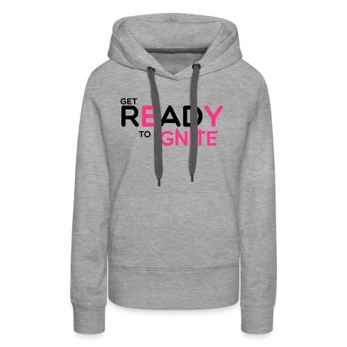GET READY - Sweat-shirt à capuche Premium pour femmes