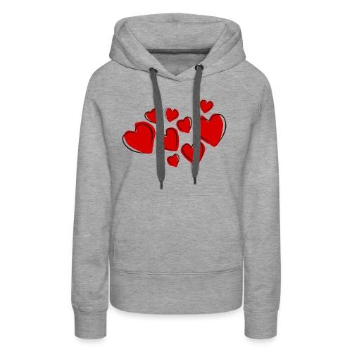 hearts herzen - Frauen Premium Hoodie
