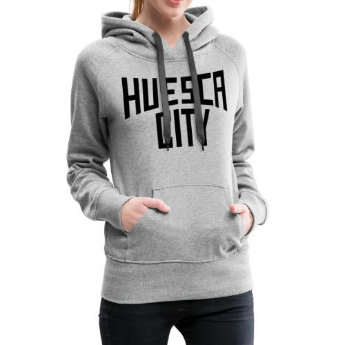 huesca city - Sudadera con capucha premium para mujer