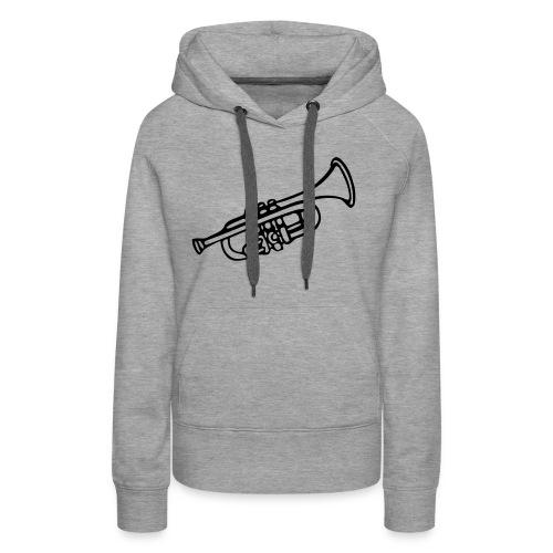 Trompete - Frauen Premium Hoodie