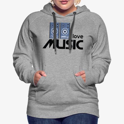 Amo la música 01 - Sudadera con capucha premium para mujer