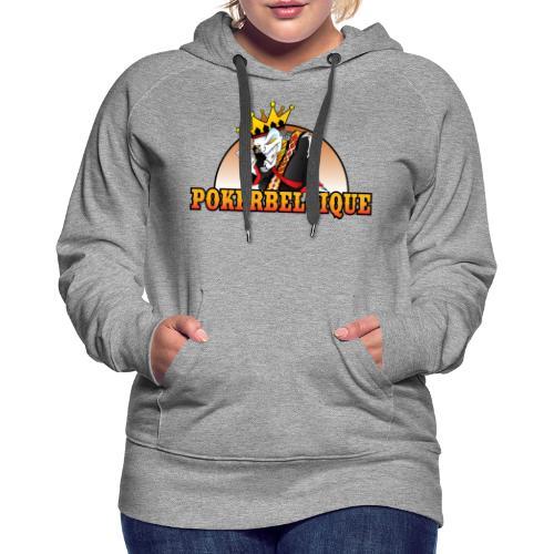Logo Poker Belgique - Sweat-shirt à capuche Premium pour femmes