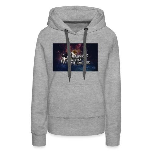 maankoe met agtergront - Vrouwen Premium hoodie