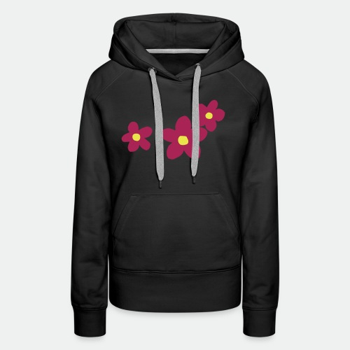 Three Flowers - Women's Premium Hoodie