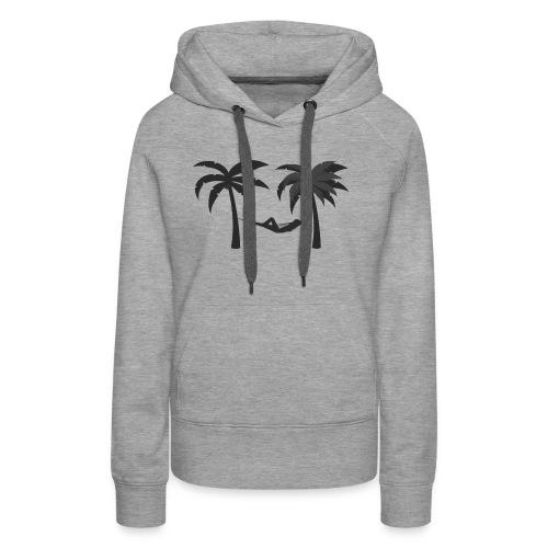 Hängematte mitzwischen Palmen - Frauen Premium Hoodie