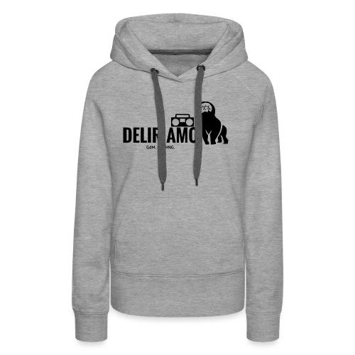DELIRIAMO CLOTHING (GdM01) - Felpa con cappuccio premium da donna