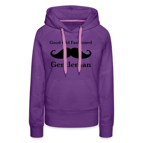 Gentleman's Moustache - Women's Premium Hoodie