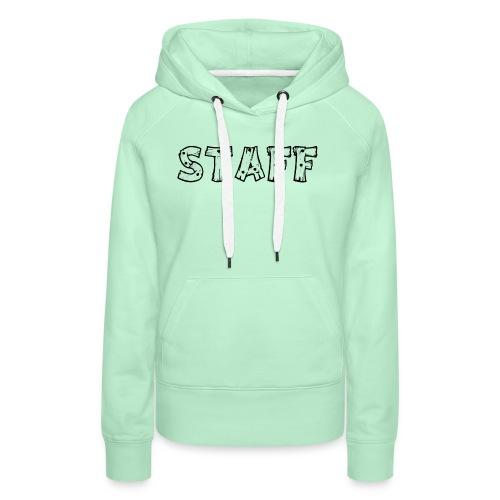 STAFF - Felpa con cappuccio premium da donna