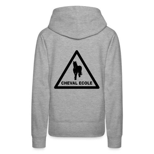 chevalecoletshirt - Sweat-shirt à capuche Premium pour femmes