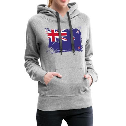 New Zealand Flag, Flagge Neuseeland - Frauen Premium Hoodie