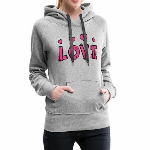 Love tuoteperhe - Naisten premium-huppari