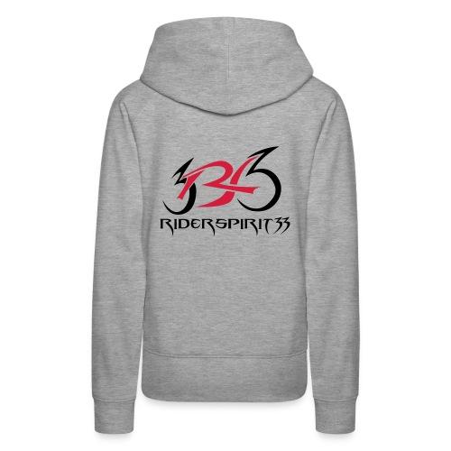 logocoeurblanc - Sweat-shirt à capuche Premium pour femmes
