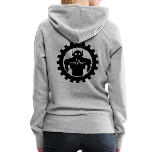 Black MMM Logo + Automaton - Dame Premium hættetrøje