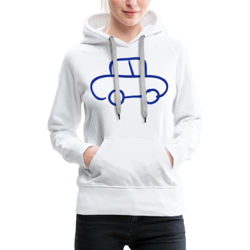 Van Line Drawing Pixellamb - Frauen Premium Hoodie