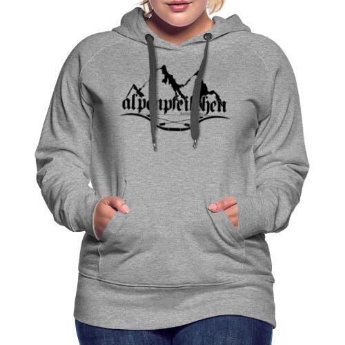 Alpenpfeilchen - Logo - Frauen Premium Hoodie