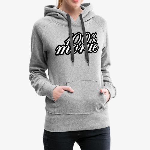 100% morue - Sweat-shirt à capuche Premium pour femmes