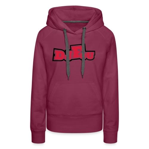 logofou - Sweat-shirt à capuche Premium pour femmes