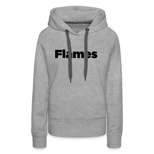 Plump Flames Logo - Women's Premium Hoodie
