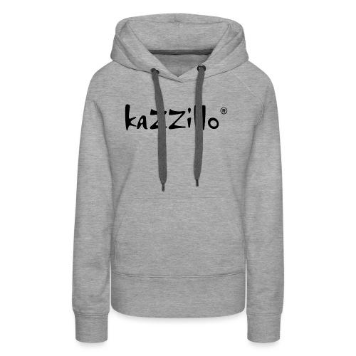 Logo kazzillo - Felpa con cappuccio premium da donna