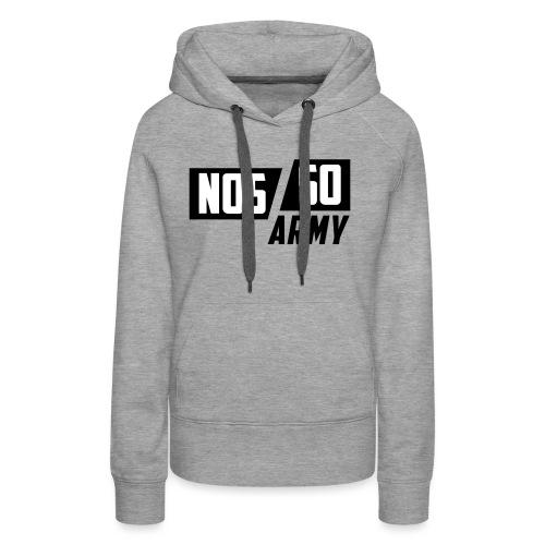 NossoArmy ZWART - Vrouwen Premium hoodie