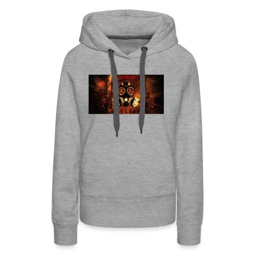 La Delinquance  Gun Masque A Gaz  Fond Flamme - Sweat-shirt à capuche Premium pour femmes