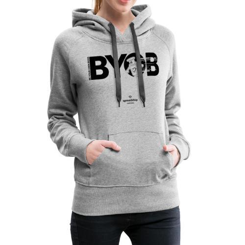 BYOB2 Dark Robot - Women's Premium Hoodie
