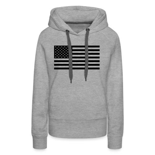 fahne usa - Frauen Premium Hoodie