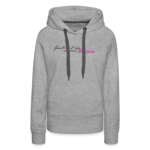 Frère et sœur toujours - Sweat-shirt à capuche Premium pour femmes