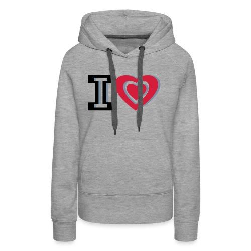 I LOVE I HEART - Women's Premium Hoodie