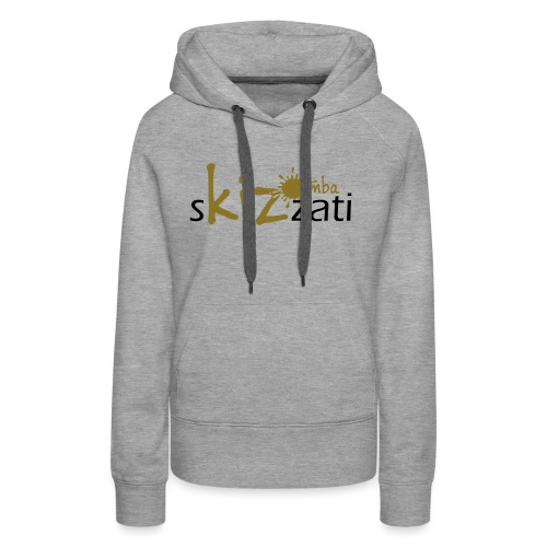 Beanie in jersey con logo sKizzati Kizomba - Verde - Felpa con cappuccio premium da donna