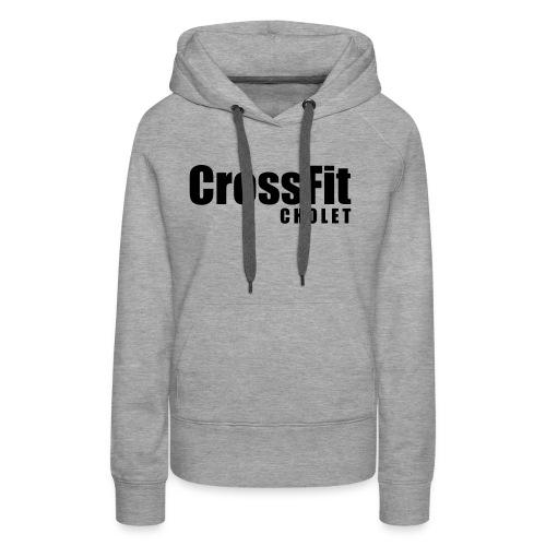 Crossfit Cholet - Sweat-shirt à capuche Premium pour femmes