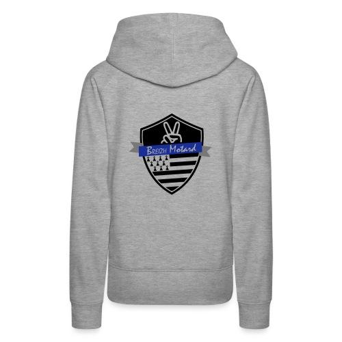 Breizh Motard Vestes et gilets - Sweat-shirt à capuche Premium pour femmes