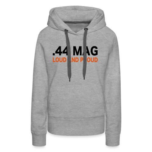 44 magnum - Felpa con cappuccio premium da donna
