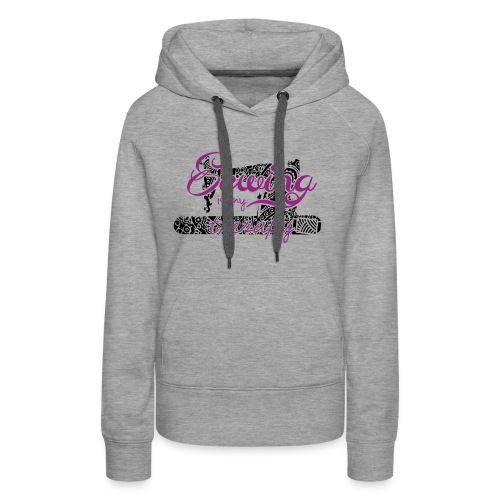 Sewing is my therapy - Frauen Premium Hoodie