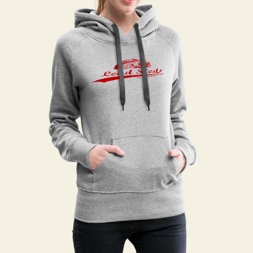 lead sled red - Dame Premium hættetrøje