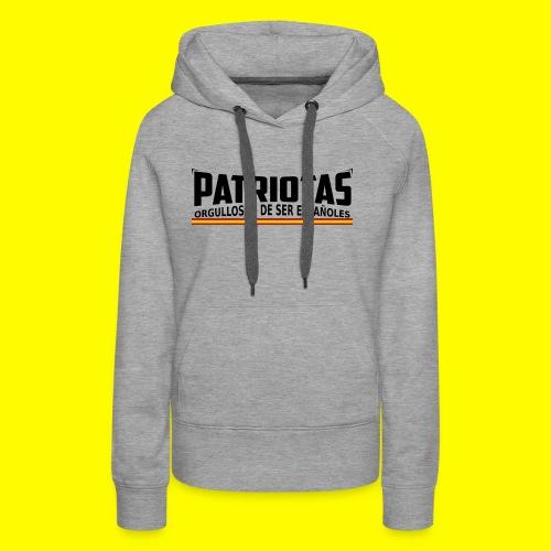 Patriotas españoles logo - Sudadera con capucha premium para mujer