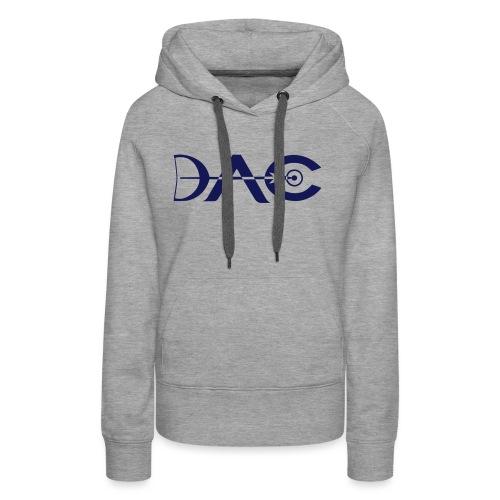 Logo DAC simplifie petit 1 coul - Sweat-shirt à capuche Premium pour femmes
