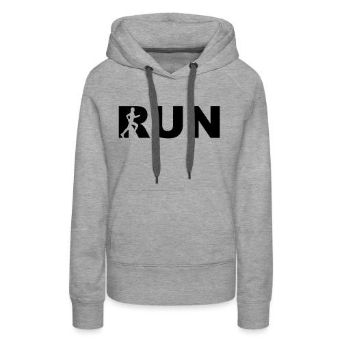 run running woman - Frauen Premium Hoodie