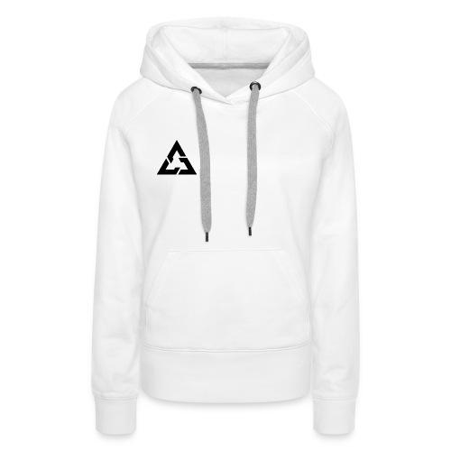 Angle Logo Brand - Felpa con cappuccio premium da donna