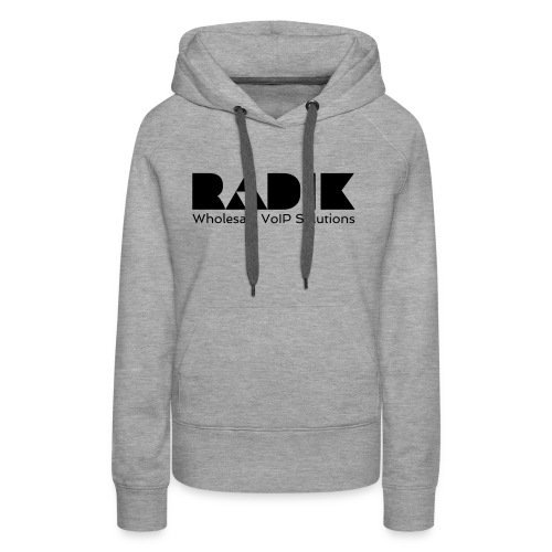 radik logo 1kleur wholesalevoipsolutions - Vrouwen Premium hoodie