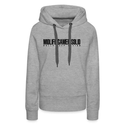 Midlife_Gamer_Solid_2 - Women's Premium Hoodie