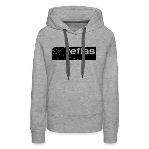 Reflas Clothing Black/Gray - Felpa con cappuccio premium da donna