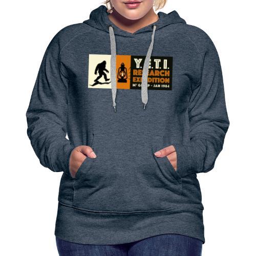 A la recherche du Yeti - Sweat-shirt à capuche Premium pour femmes